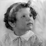 Sally Miller Gearhart - 3 years old